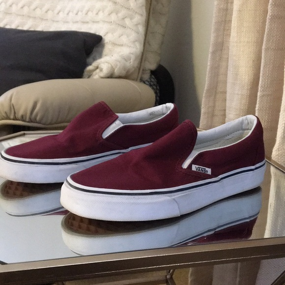 Vans Shoes - Burgundy Vans Slip Ons - Women s Size 6 8ce7b30a7